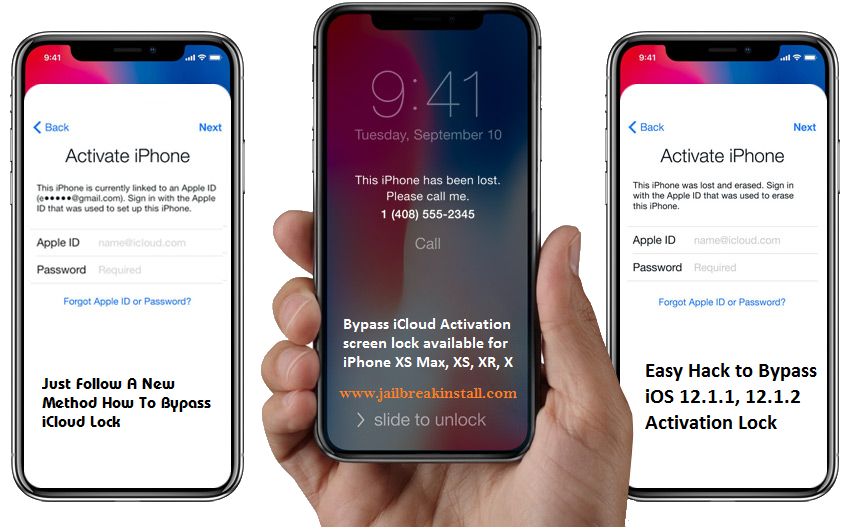 Bypass iCloud Activation screen lock available for iPhone XS Max, XS, XR, X