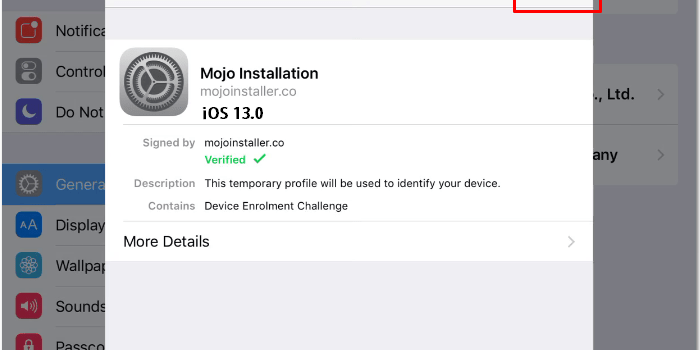 Install Mojo Installer For iPhone XS, Max, 7 plus Without Jailbreak iOS 13, 13.0.1, 13.0.2