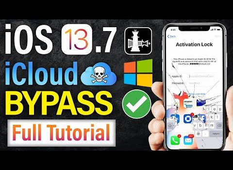 How to Bypass iCloud iOS 13.7/ 13.6.1/ 12.4.2 Permanent & Full Access To Working 100%